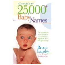 25000 Baby Names Book