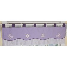Butterfly Cotton Blend Tab Top Tailored Curtain Valance