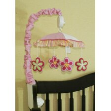 Music Mobile for Girl Dragonfly 13 Piece Crib Bedding Set