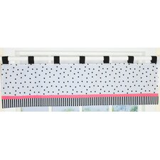 Flower and Dot Cotton Blend Curtain Valance