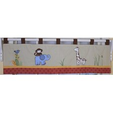 Amazon Jungle Animal Cotton Blend Curtain Valance