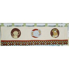 Animal Scholar Cotton Blend Curtain Valance