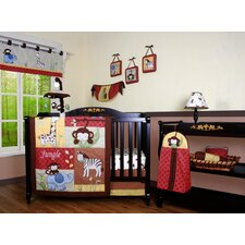 <strong>Geenny</strong> Boutique Amazon Jungle Animal 13 Piece Crib Bedding Set