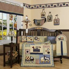 <strong>Geenny</strong> Boutique Baby Boy Constructor 13 Piece Crib Bedding Set