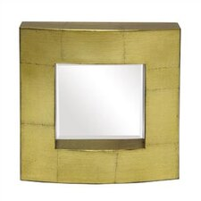 Antique Gold Leaf Block Mirror