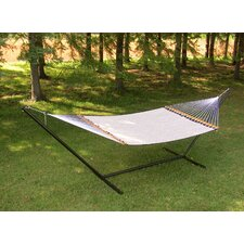 Poolside Double Fabric Hammock with Stand