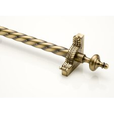 "Grand Dynasty 72"" Roped Tubular Stair Rod Set with Decorative Brackets Grand Urn Finials"