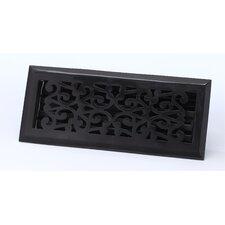 "2.25"" x 12"" Scroll Floor Register in Antique Black"