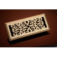"4"" x 14"" Scroll Floor Register"