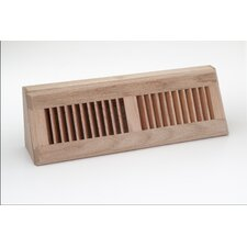 "15.125"" x 3.625"" Red Oak Baseboard Diffuser"