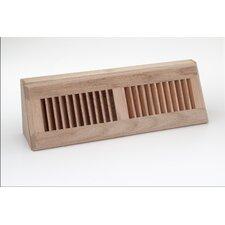 "18.125"" x 3.5"" Red Oak Baseboard Diffuser"