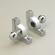 """Sovereign 72"""" Tubular Stair Rod Set with Smooth Brackets Ball Finials"""