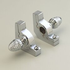 """Sovereign 72"""" Tubular Stair Rod Set with Smooth Brackets Pineapple Finials"""