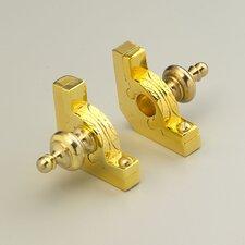 "Sovereign 48"" Tubular Stair Rod Set with Decorative Brackets Urn Finials"