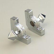 "Sovereign 28.5"" Tubular Stair Rod Set with Decorative Brackets Pyramid Finials"