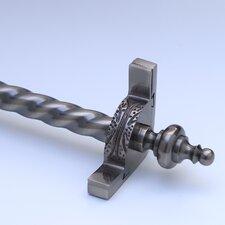 "Dynasty 72"" Roped Tubular Stair Rod Set with Decorative Brackets Urn Finials"