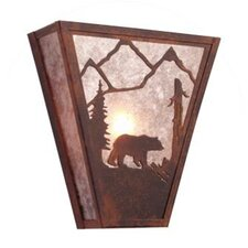 <strong>Steel Partners</strong> Bear Vegas 1 Light Wall Sconce