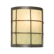 <strong>Steel Partners</strong> Ferron Forge Timber Ridge 1 Light Wall Sconce