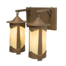 Pasadena 2 Light Vallejo Vanity Light Wall Sconce