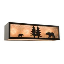 Bear Nature 4 Vanity Light Wall Sconce