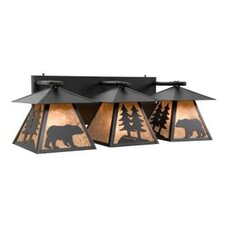 Bear Cascade Triple Vanity Light Wall Sconce