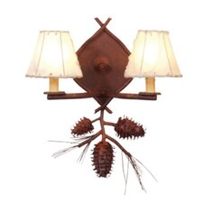 <strong>Steel Partners</strong> Ponderosa Pine 2 Light Wall Sconce