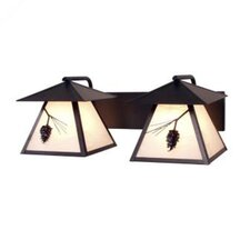 <strong>Steel Partners</strong> Ponderosa Pine Twin Prairie 2 Light Vanity Wall Sconce