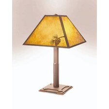"Mission 26"" H Table Lamp with Square Shade"
