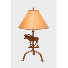 "Moose 31"" H Table Lamp with Empire Shade"