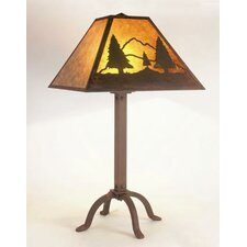 """Timber Ridge 31"""" H Table Lamp with Square Shade"""