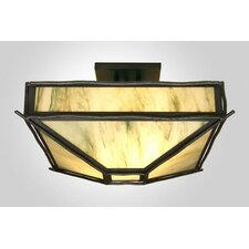 <strong>Steel Partners</strong> Sticks 4 Light Post Drop Semi Flush Mount Ceiling Light