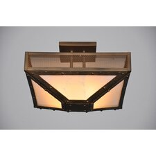 Rogue River 4 Light Post Semi Flush Mount