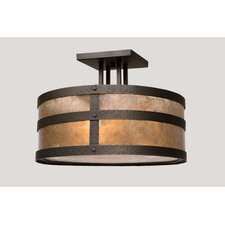 <strong>Steel Partners</strong> Portland Round Drop Semi Flush Mount