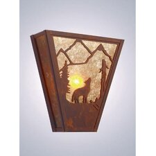 Bark at the Moon Vegas 1 Light Wall Sconce