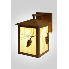 Ponderosa Pine Large 1 Light Outdoor Wall Sconce