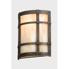 <strong>Steel Partners</strong> San Carlos Timber Ridge 1 Light Wall Sconce