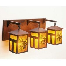 Mission Lake 3 Light Vanity Light Wall Sconce