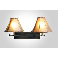 <strong>Steel Partners</strong> San Carlos Double Swing Arm Wall Lamp