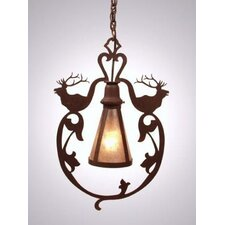 <strong>Steel Partners</strong> Bavarian Elk 1 Light Hanging Lantern