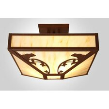 Bavarian Bear 4 Light Post Drop Semi Flush Mount