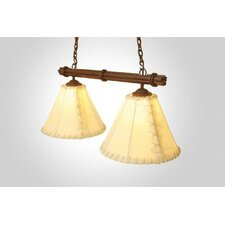 Sticks Round Rawhide Double Anacosti Light Pendant