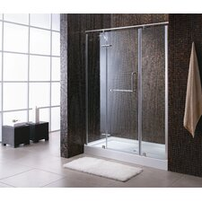 Paris Pivot Door Shower Enclosure and Base Set
