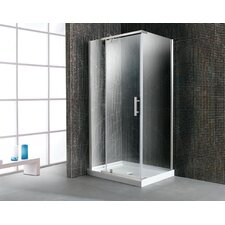 <strong>Ove Decors</strong> 40'' Corner Glass Pivot Door Shower Enclosure with Acrylic Base