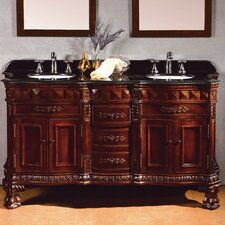 "Geneva 60"" Double Bathroom Vanity Set"