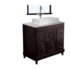 "Barcelona 39.8"" Single Bathroom Vanity Set"