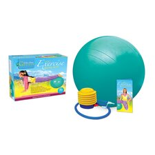 Phthalate-Free Exercise Ball Kit with Poster