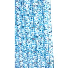 Geo Mosaic Polyester Fabric Shower Curtain