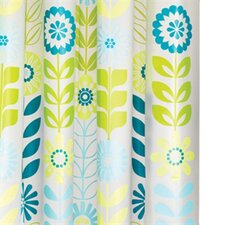 Mod Floral PEVA Shower Curtain