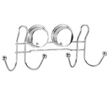 Stick 'N' Lock Wall Mounted Double Robe Hook
