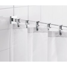 "Square 98"" Max Shower Rod with Curtain Hooks"